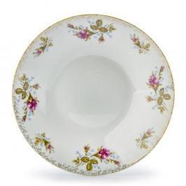 Talerz obiadowy głęboki porcelanowy CERAMIKA TUŁOWICE RÓŻA TOPOWANA BIAŁY 22 cm
