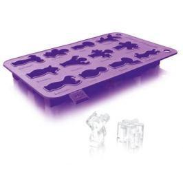 Forma do kostek lodu silikonowa VACU VIN IMPREZOWE LUDKI FIOLETOWE