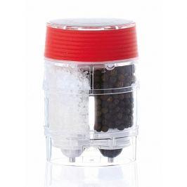 Młynek do pieprzu i soli akrylowy ręczny 2w1 BISETTI MANTOVA CZERWONY 9,5 cm