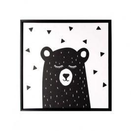 Obraz na płótnie MONDEX BLACK BEAR BIAŁY 35 x 35 cm