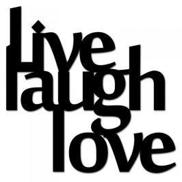 Napis na ścianę dekoracyjny DEKOSIGN LIVE LAUGH LOVE