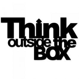 Napis na ścianę dekoracyjny DEKOSIGN THINK OUTSIDE THE BOX