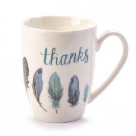 Kubek ceramiczny THANKS BIAŁY 350 ml