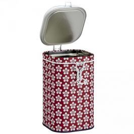 Puszka na herbatę stalowa EIGENART TRADYCYJNA KWIATY CZERWONA 0,4 l