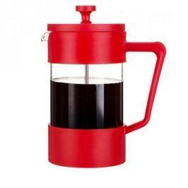 French press / Zaparzacz do kawy tłokowy szklany GRUNWERG CAFE OLE DON CZERWONY 0,6 l