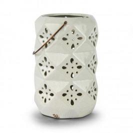 Lampion ozdobny ceramiczny DUO FIGURE BIAŁY 26 cm