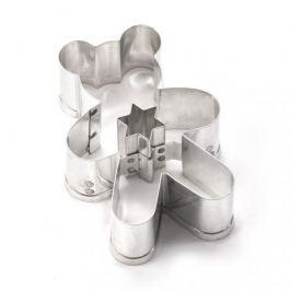 Foremka / Wykrawacz do ciastek metalowy NIEDŹWIADEK Z GWIAZDKĄ 5 cm