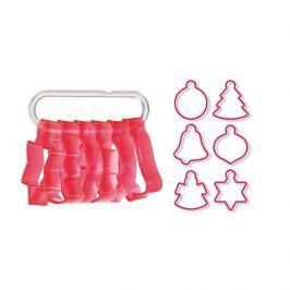 Foremki / Wykrawacze do ciastek i pierników plastikowe z akcesoriami TESCOMA DELICIA KALENDARZ ADWENTOWY CZERWONE 6 szt.