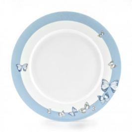 Talerz obiadowy płytki porcelanowy FLORINA BUTTERFLY BIAŁY 27 cm