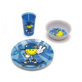 Naczynia dla dzieci plastikowe ZAK SMILEY KID BIG NIEBIESKI 3 szt.