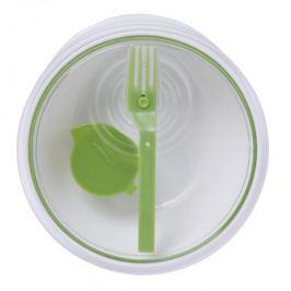 Lunch box / Zestaw do sałatek plastikowy z widelcem i pojemnikiem do sosów BLACK BLUM LUNCH BOWL 1 l