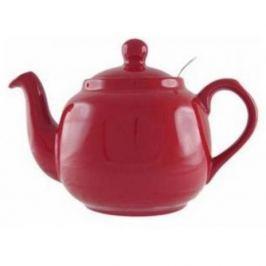 Dzbanek do herbaty ceramiczny z zaparzaczem LONDON POTTERY FARMHOUSE CZERWONY 1,2 l
