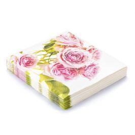 Serwetki papierowe dekoracyjne PAW ROSES BIAŁE 20 szt.