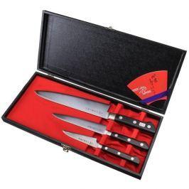 Noże kuchenne ze stali nierdzewnej TOJIRO DP3 SUPRISE CZARNE 3 szt.