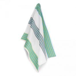 Ręcznik kuchenny bawełniany KELA CARLA PASKI BIAŁY 70 x 50 cm