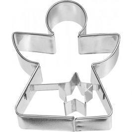 Foremka / Wykrawacz do ciastek metalowy BIRKMANN ANIOŁEK Z GWIAZDKĄ 6 cm