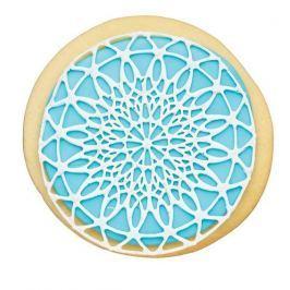 Szablon do dekoracji ciast silikonowy KITCHEN CRAFT SWEETLY DOES IT RÓŻOWY 9 cm