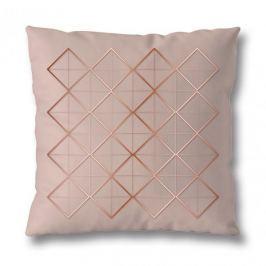 Poszewka na poduszkę ozdobna bawełniana MISS LUCY MESH JASNORÓŻOWA 40 x 40 cm