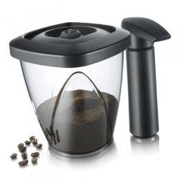 Pojemnik próżniowy do kawy z pompką próżniową TOMORROWS KITCHEN CZARNY