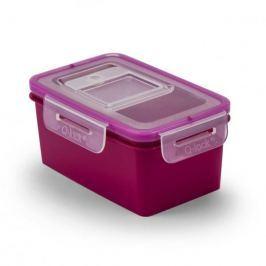 Pojemnik na żywność plastikowy BRANQ QLOCK RECT FIOLETOWY 0,65 l