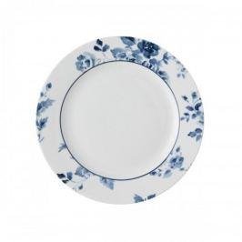 Talerz deserowy porcelanowy LAURA ASHLEY CHINA ROSE BIAŁY 18 cm