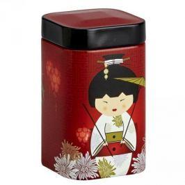 Puszka na herbatę stalowa EIGENART KIMONO GEJSZA I KWIATY CZERWONA 0,4 l