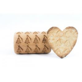 Wałek dekoracyjny do ciasta drewniany STODOLA MINI CHOINKA