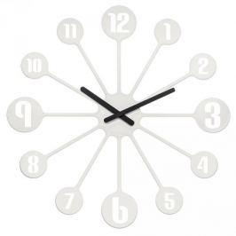 Zegar ścienny plastikowy KOZIOL PINBALL BIAŁY 24 cm
