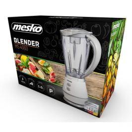 Blender kuchenny kielichowy plastikowy MESKO SMART KITCHEN BIAŁY 250 W