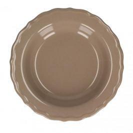 Talerz obiadowy głęboki ceramiczny KRISTELLA BRĄZOWY 23 cm