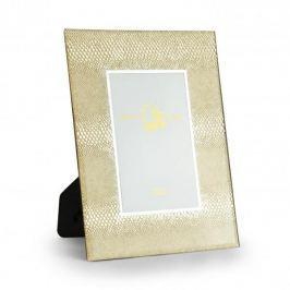 Ramka na zdjęcia szklana DUO SILVER SNAKE ZŁOTA 18 x 23 cm