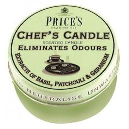 Świeca zapachowa woskowa w puszce neutralizująca przykre zapachy PRICE'S CANDLES CHEF'F ZIELONA