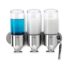 Dozownik do płynu do mycia naczyń potrójny stalowy SIMPLEHUMAN TRIO 445 ml