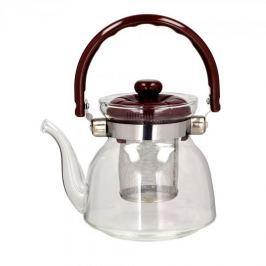 Dzbanek do herbaty szklany z zaparzaczem WINDSOR BRĄZOWY 0,8 l