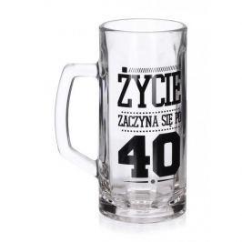 Kufel do piwa szklany FUN 40 - TE URODZINY 600 ml