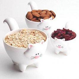 Miarki kuchenne ceramiczne MSC INTERNATIONAL MEOW BIAŁE 3 szt.
