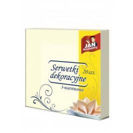 Serwetki papierowe gastronomiczne ecru JAN NIEZBĘDNY 20 szt.