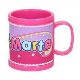 Kubek z imieniem dla dziecka plastikowy PAN DRAGON MARTA 250 ml