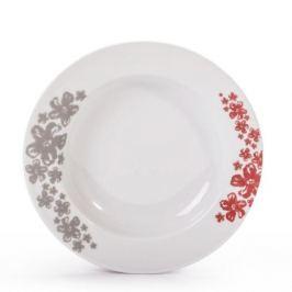 Talerz obiadowy głęboki porcelanowy CHODZIEŻ NINA PRATO BIAŁY 22,5 cm