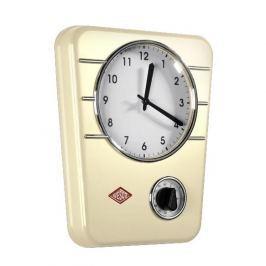 Zegar ścienny ze stali nierdzewnej WESCO TIMER KREMOWY 30,5 x 24,5 cm