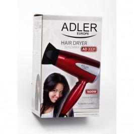 Suszarka do włosów turystyczna elektryczna plastikowa ADLER AIR CZERWONA 1600 W