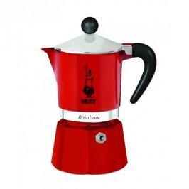 Kawiarka aluminiowa ciśnieniowa BIALETTI RAINBOW CZERWONA - kafetiera na 1 filiżankę espresso