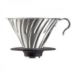 Dripper / Filtr do kawy metalowy z silikonową podstawką HARIO DRIPPER V60-02