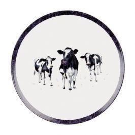 Talerz obiadowy płytki porcelanowy ASHDENE DAIRY BELLES BIAŁY 27 cm