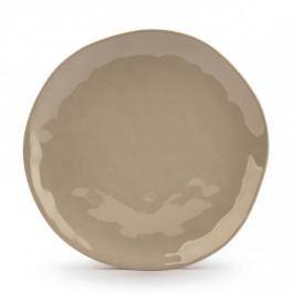 Talerz obiadowy płytki ceramiczny ORGANIC SZARY 26 cm