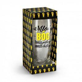 Szklanka do piwa szklana MŁODY BÓG ZAWSZE PIĘKNY ZAWSZE CHĘTNY 500 ml