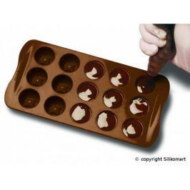 Forma do 15 czekoladek silikonowa SILIKOMART IMPERIAL BRĄZOWA
