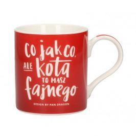 Kubek ceramiczny boss z napisem PAN DRAGON DRINK IDEA KOT 400 ml
