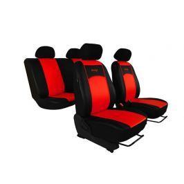 Pokrowce samochodowe uniwersalne Eko-skóra Czerwone Volkswagen Beetle od 2011 - Czerwony