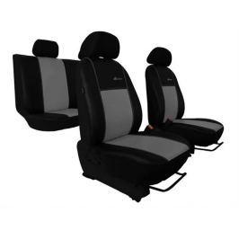 Pokrowce samochodowe EXCLUSIVE - POK-TER Skórzane Szare Seat Leon III od 2013 - Szary